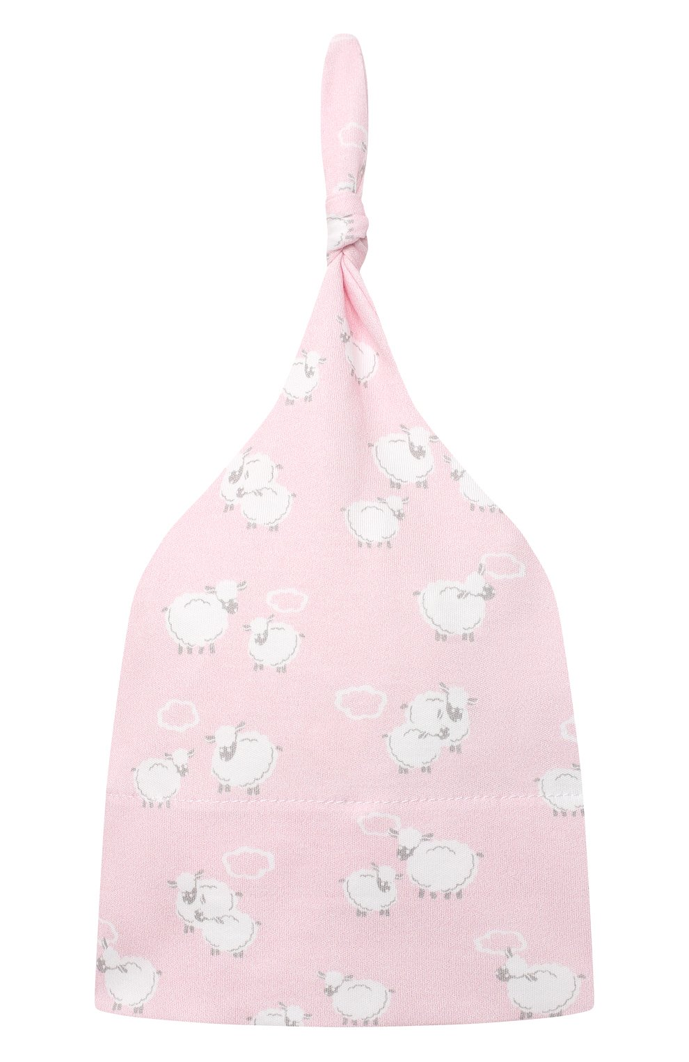 Детского комплект из платья на завязке и шапки KISSY KISSY розового цвета, арт. KGW05039N | Фото 4 (Материал внешний: Хлопок; Ростовка одежда: 0 - 3 мес | 50 - 60 см)