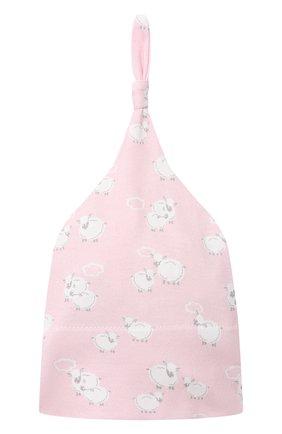 Детского комплект из платья на завязке и шапки KISSY KISSY розового цвета, арт. KGW05039N | Фото 5 (Материал внешний: Хлопок; Ростовка одежда: 0 - 3 мес | 50 - 60 см)