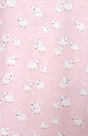 Детского комплект из платья на завязке и шапки KISSY KISSY розового цвета, арт. KGW05039N | Фото 6 (Материал внешний: Хлопок; Ростовка одежда: 0 - 3 мес | 50 - 60 см)