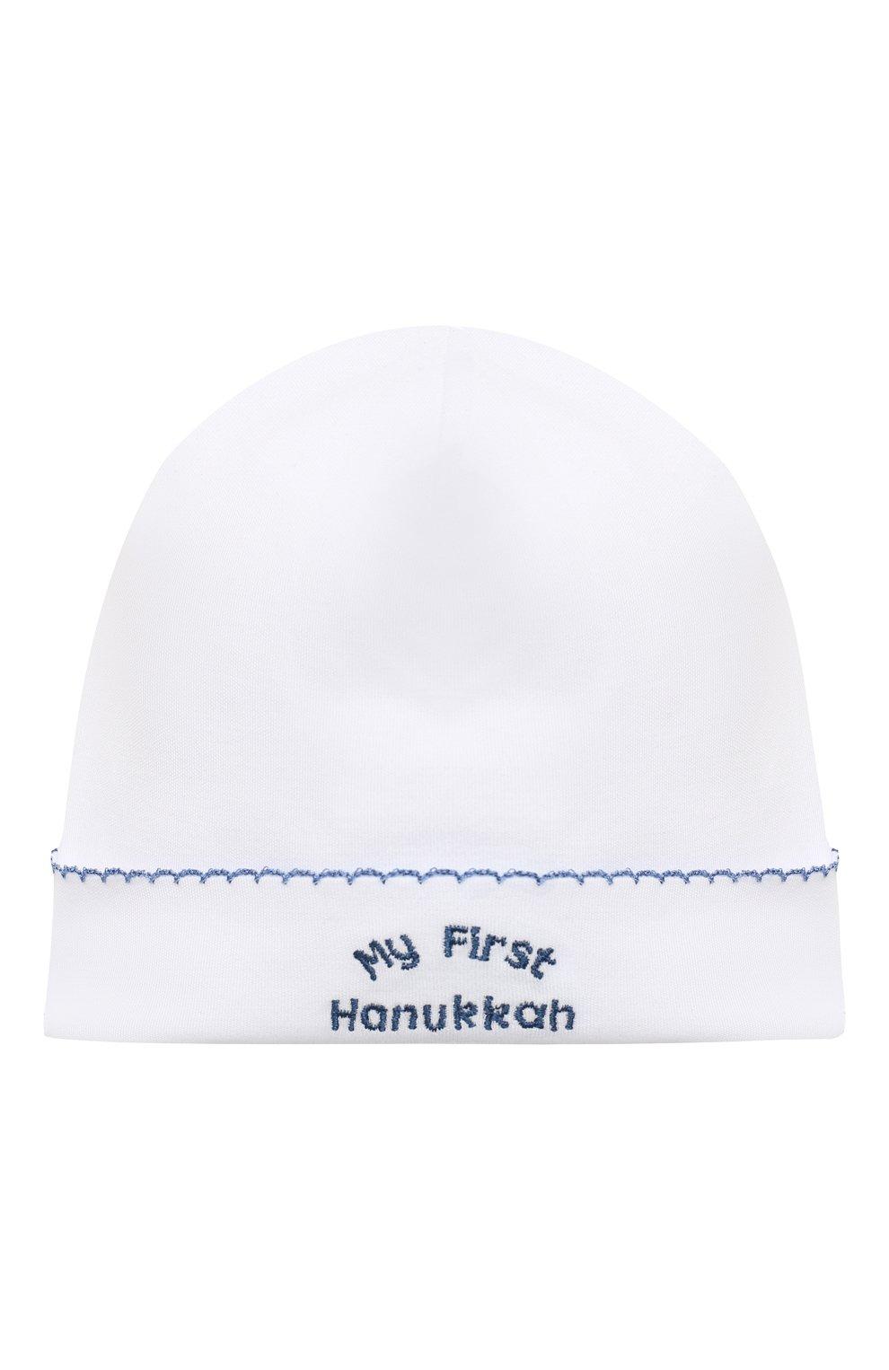Детского хлопковая шапка KISSY KISSY белого цвета, арт. KN504588N   Фото 1 (Материал: Текстиль, Хлопок)