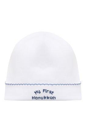Детского хлопковая шапка KISSY KISSY белого цвета, арт. KN504588N | Фото 1