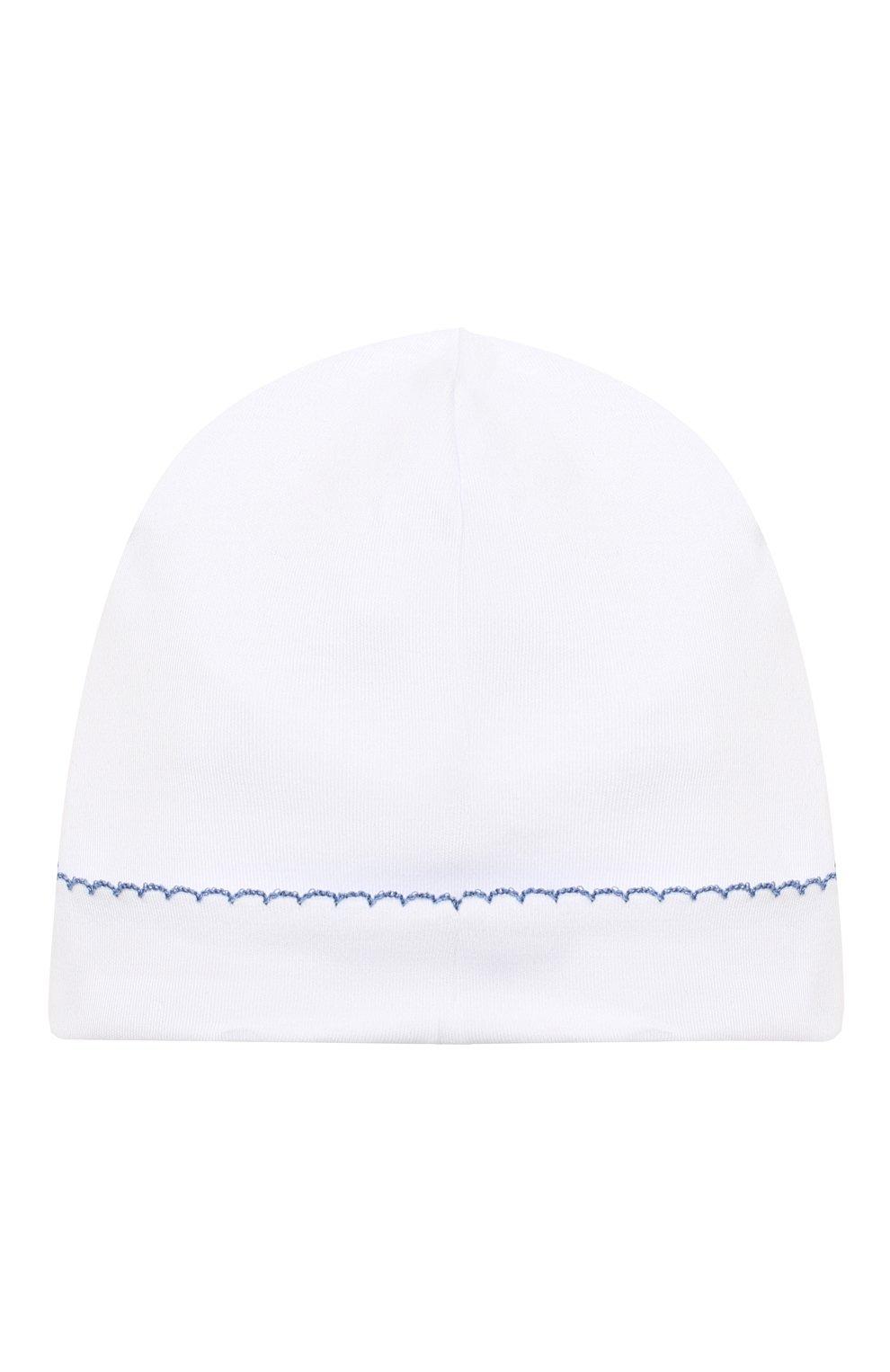 Детского хлопковая шапка KISSY KISSY белого цвета, арт. KN504588N   Фото 2 (Материал: Текстиль, Хлопок)