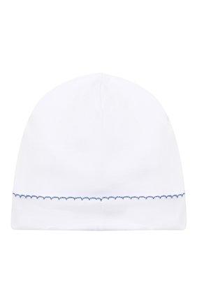 Детского хлопковая шапка KISSY KISSY белого цвета, арт. KN504588N | Фото 2