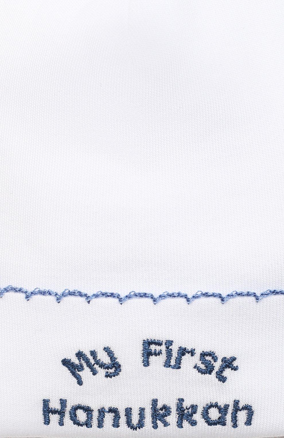 Детского хлопковая шапка KISSY KISSY белого цвета, арт. KN504588N   Фото 3 (Материал: Текстиль, Хлопок)