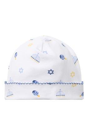 Детского хлопковая шапка KISSY KISSY синего цвета, арт. KN504589N | Фото 1