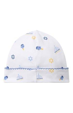Детского хлопковая шапка KISSY KISSY синего цвета, арт. KN504589N | Фото 2
