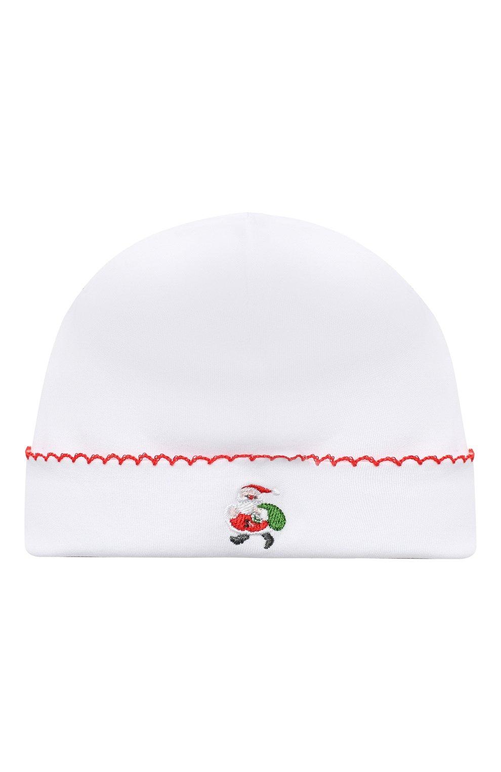 Детского хлопковая шапка KISSY KISSY белого цвета, арт. KN504634N | Фото 1 (Материал: Текстиль, Хлопок)