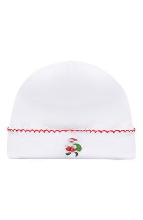 Детского хлопковая шапка KISSY KISSY белого цвета, арт. KN504634N | Фото 1