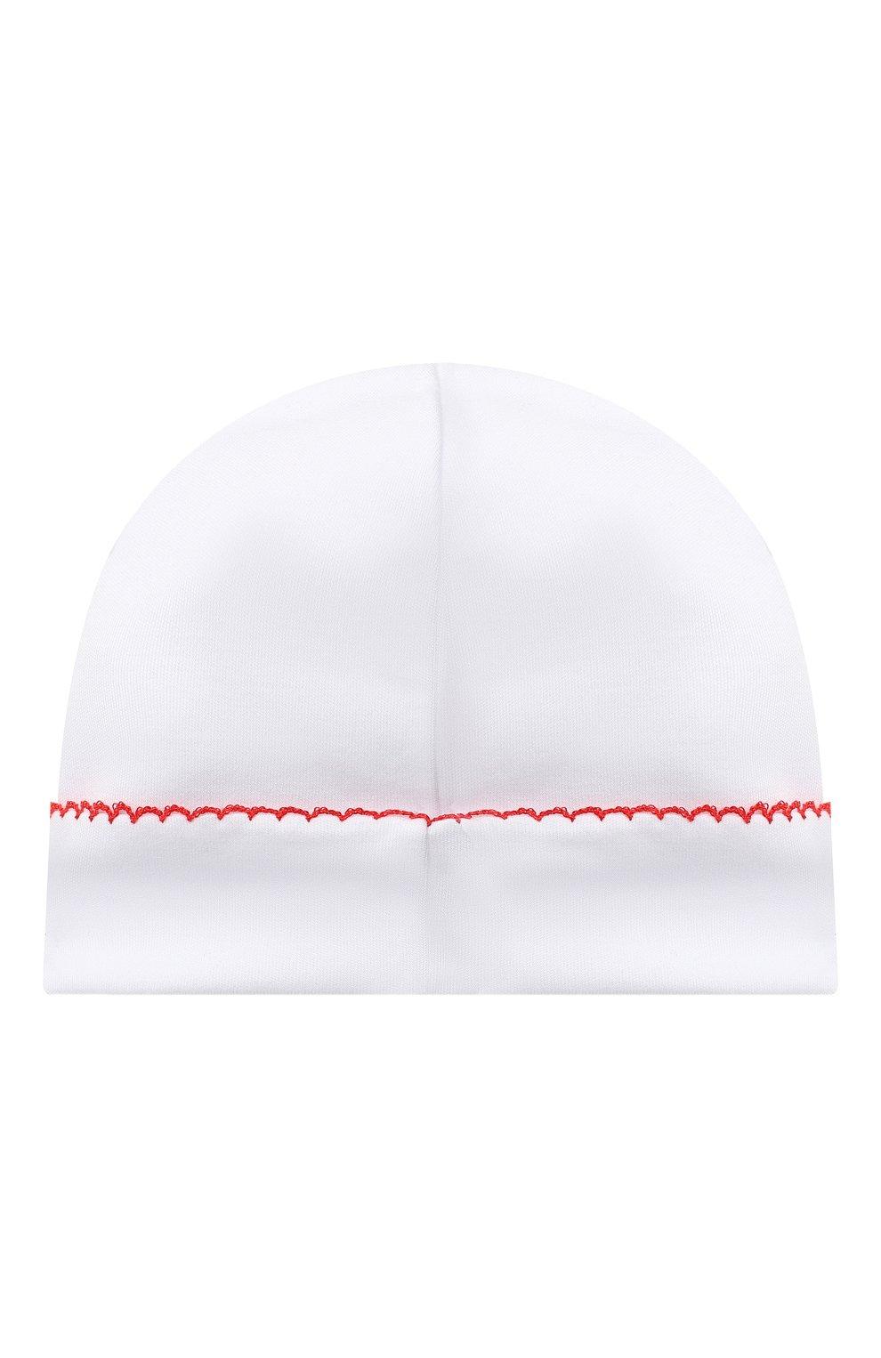 Детского хлопковая шапка KISSY KISSY белого цвета, арт. KN504634N | Фото 2 (Материал: Текстиль, Хлопок)