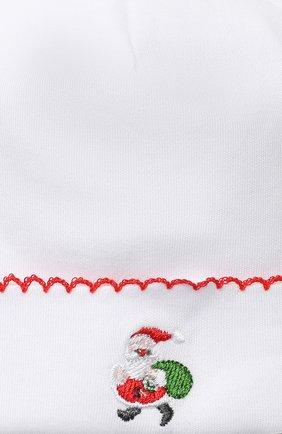 Детского хлопковая шапка KISSY KISSY белого цвета, арт. KN504634N | Фото 3 (Материал: Текстиль, Хлопок)