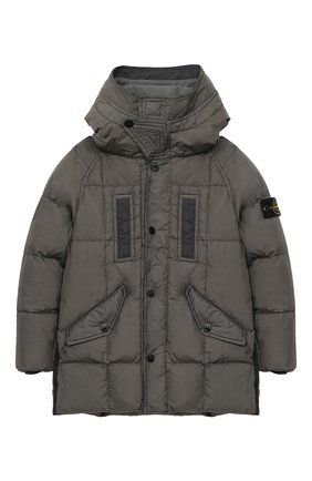 Детский пуховая куртка STONE ISLAND серого цвета, арт. 731640233/6-8 | Фото 1