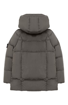 Детский пуховая куртка STONE ISLAND серого цвета, арт. 731640233/6-8 | Фото 2