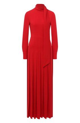 Женское шелковое платье VALENTINO красного цвета, арт. UB0VDB751MM | Фото 1