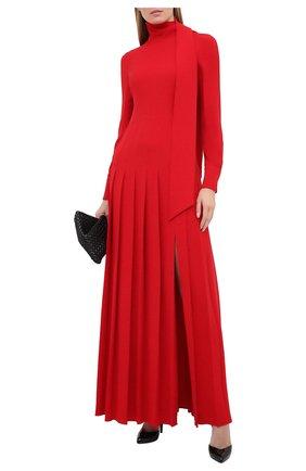 Женское шелковое платье VALENTINO красного цвета, арт. UB0VDB751MM | Фото 2