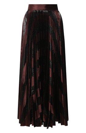 Женская плиссированная юбка DOLCE & GABBANA темно-коричневого цвета, арт. F4BYVT/FUVKZ   Фото 1