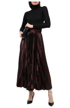 Женская плиссированная юбка DOLCE & GABBANA темно-коричневого цвета, арт. F4BYVT/FUVKZ   Фото 2
