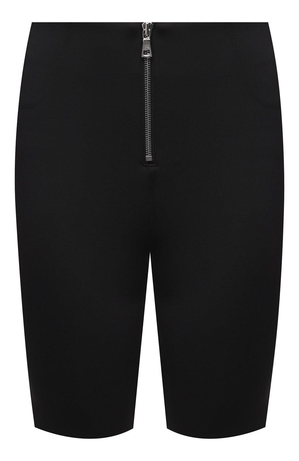 Женские шорты RTA черного цвета, арт. WU0425-3011BLK | Фото 1 (Женское Кросс-КТ: Шорты-одежда; Длина Ж (юбки, платья, шорты): Мини; Материал внешний: Синтетический материал; Стили: Спорт-шик)