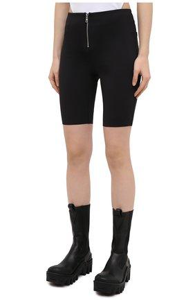 Женские шорты RTA черного цвета, арт. WU0425-3011BLK | Фото 3 (Женское Кросс-КТ: Шорты-одежда; Длина Ж (юбки, платья, шорты): Мини; Материал внешний: Синтетический материал; Стили: Спорт-шик)