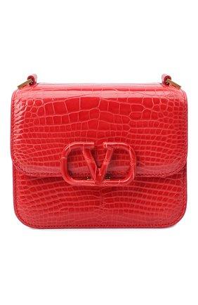 Женская сумка из кожи аллигатора valentino garavani vsling VALENTINO красного цвета, арт. UW0B0F01/XDE/AMIS | Фото 1