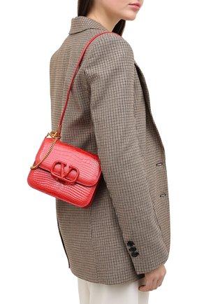Женская сумка из кожи аллигатора valentino garavani vsling VALENTINO красного цвета, арт. UW0B0F01/XDE/AMIS | Фото 2