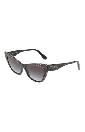 Женские солнцезащитные очки DOLCE & GABBANA серого цвета, арт. 4370-32868G | Фото 1