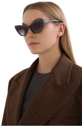 Женские солнцезащитные очки DOLCE & GABBANA серого цвета, арт. 4370-32868G | Фото 2