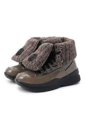 Женские комбинированные ботинки JOG DOG коричневого цвета, арт. 1625R/DR_ZAFFW00LBALTIC0/W | Фото 1