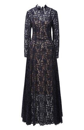 Женское платье OSCAR DE LA RENTA темно-синего цвета, арт. 20PN051GRL | Фото 1