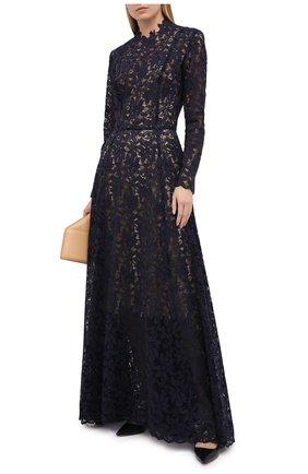 Женское платье OSCAR DE LA RENTA темно-синего цвета, арт. 20PN051GRL | Фото 2