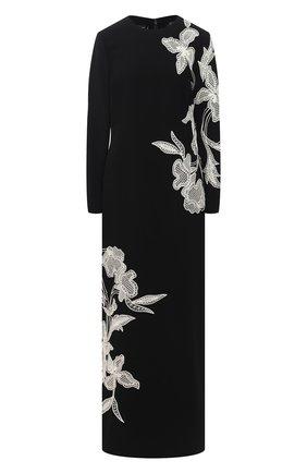 Женское платье из вискозы OSCAR DE LA RENTA черного цвета, арт. 20PE026CPS | Фото 1