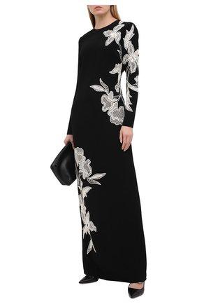 Женское платье из вискозы OSCAR DE LA RENTA черного цвета, арт. 20PE026CPS | Фото 2