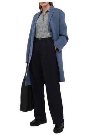 Женская рубашка из хлопка и шерсти ISABEL MARANT ETOILE зеленого цвета, арт. CH0671-20A039E/FALC0 | Фото 2