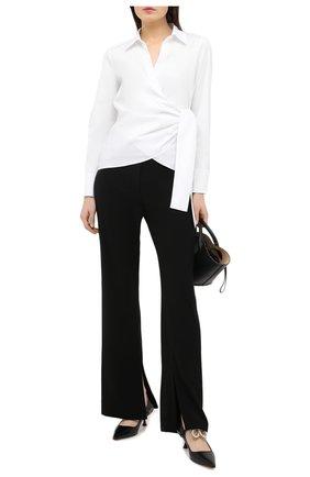 Женская хлопковая рубашка ESCADA SPORT белого цвета, арт. 5034457 | Фото 2