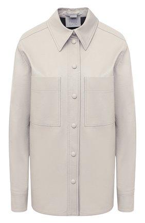 Женская рубашка из вискозы STELLA MCCARTNEY светло-серого цвета, арт. 602418/SKB20 | Фото 1