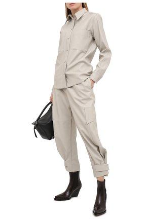 Женская рубашка из вискозы STELLA MCCARTNEY светло-серого цвета, арт. 602418/SKB20 | Фото 2