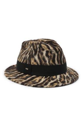 Женская шерстяная шляпа SAINT LAURENT леопардового цвета, арт. 634271/3YG13 | Фото 1