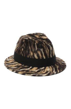 Женская шерстяная шляпа SAINT LAURENT леопардового цвета, арт. 634271/3YG13 | Фото 2