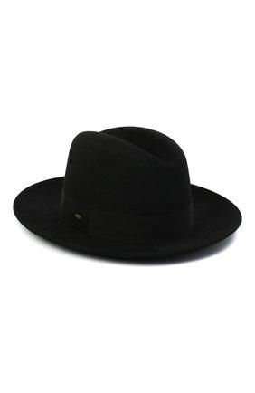 Женская фетровая шляпа SAINT LAURENT черного цвета, арт. 628281/3YG07 | Фото 1