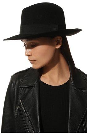 Женская фетровая шляпа SAINT LAURENT черного цвета, арт. 628281/3YG07 | Фото 2