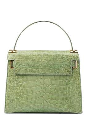 Женская сумка my rockstud из кожи крокодила VALENTINO зеленого цвета, арт. KW2B0977/C0D | Фото 1