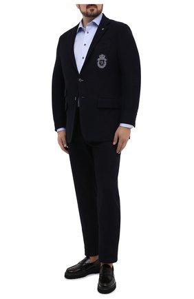 Мужская хлопковая сорочка ETON голубого цвета, арт. 1000 01391 | Фото 2 (Рукава: Длинные; Материал внешний: Хлопок; Случай: Формальный; Рубашки М: Classic Fit; Big sizes: Big Sizes; Стили: Классический)