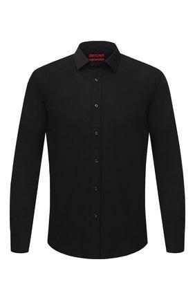 Мужская хлопковая сорочка HUGO черного цвета, арт. 50418107 | Фото 1