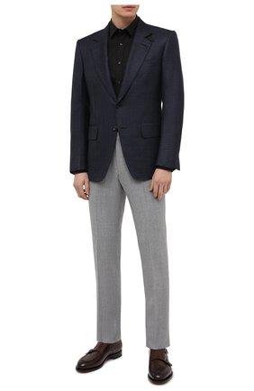 Мужская хлопковая сорочка HUGO черного цвета, арт. 50418107 | Фото 2