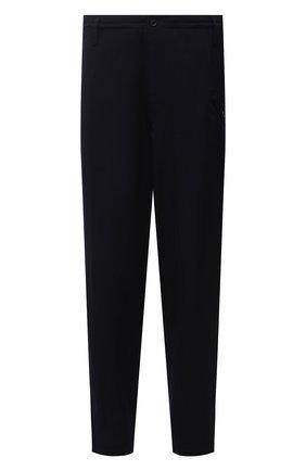 Мужские брюки из шерсти и вискозы YOHJI YAMAMOTO темно-синего цвета, арт. HR-P45-149 | Фото 1