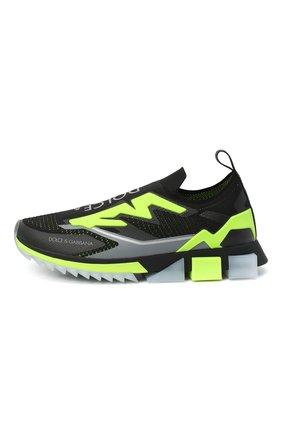 Мужские текстильные кроссовки sorrento DOLCE & GABBANA черного цвета, арт. CS1823/AW478 | Фото 3