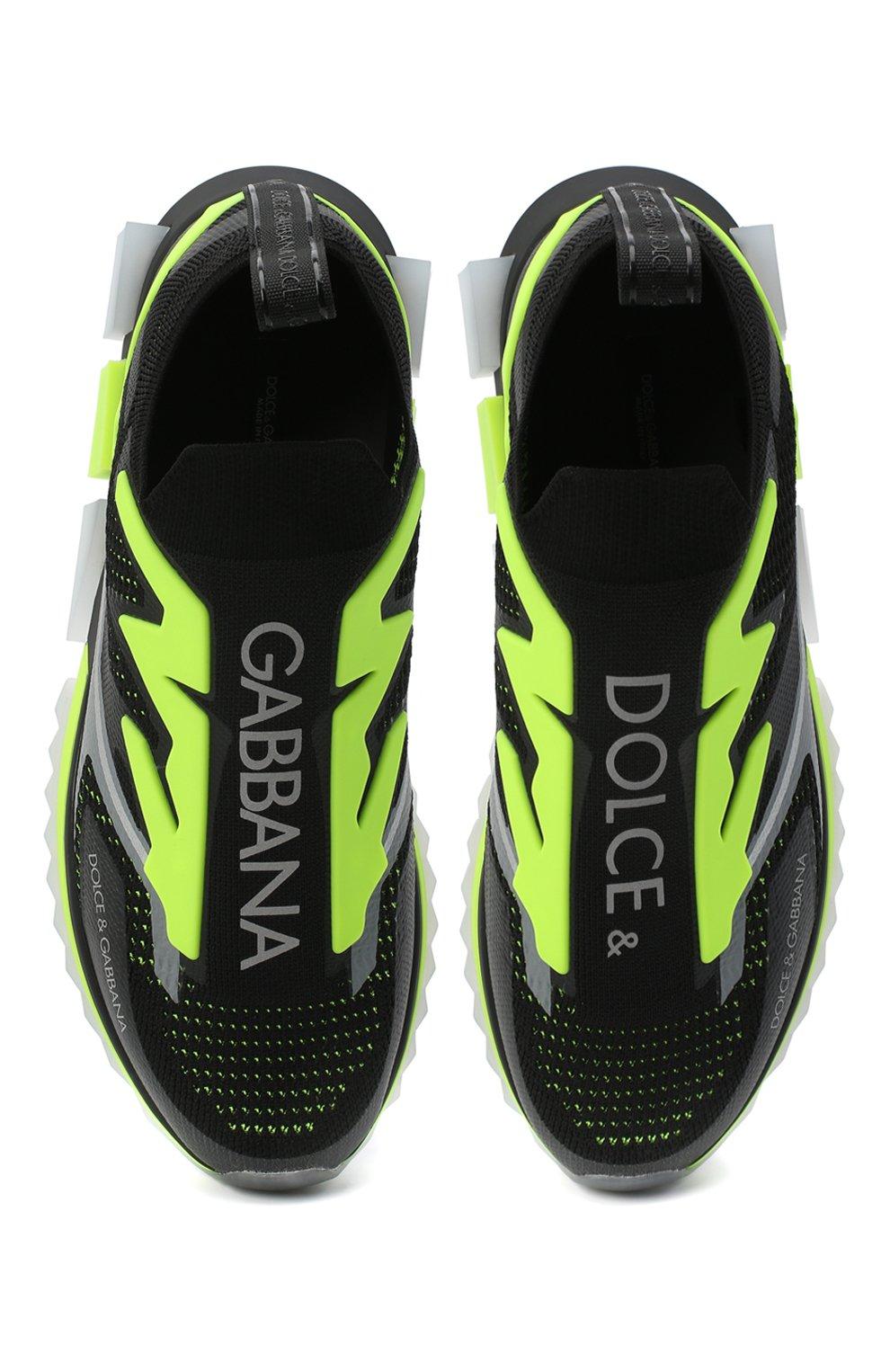 Мужские текстильные кроссовки sorrento DOLCE & GABBANA черного цвета, арт. CS1823/AW478 | Фото 5