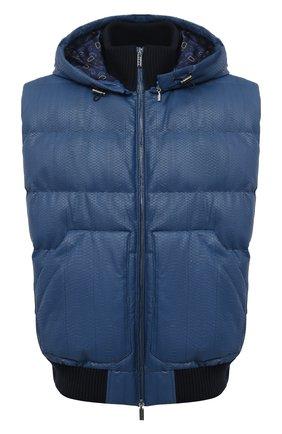 Мужской пуховый жилет ZILLI SPORT темно-синего цвета, арт. MAU-YD008-SDB00/0001 | Фото 1