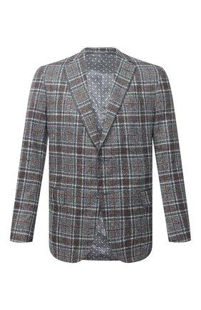 Мужской пиджак из шелка и шерсти ZILLI серого цвета, арт. MNU-VG2Y-2-D6624/M001   Фото 1