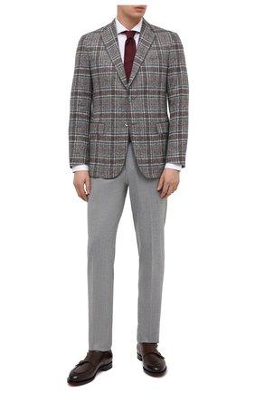 Мужской пиджак из шелка и шерсти ZILLI серого цвета, арт. MNU-VG2Y-2-D6624/M001   Фото 2