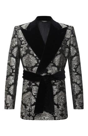 Мужской пиджак DOLCE & GABBANA серебряного цвета, арт. G20S2T/HJMLP | Фото 1